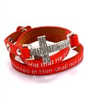 Quote Printed Wrap Bracelet- Red