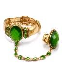 Crystal Stretch Bracelet Ring- Green