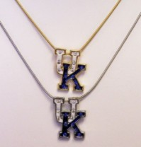 UK Necklace (trimmed in gold or silver) w/stones