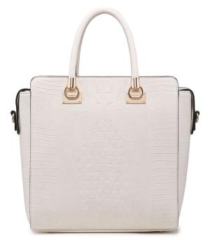 Faux Croc Skin Tote Bag