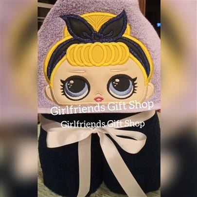 LOL Doll Bandana Hooded Towel