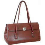 Fashion Fine Textured Leather Look Like Shoulderl Bag Handbag