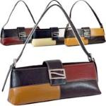 Classic Fine Textured Classic Shoulder Bag Handbag w/ Metal Buckle