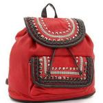Mini studded fashion backpack - Red