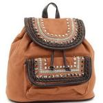 Mini studded fashion backpack - Tan