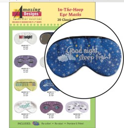 In-the-Hoop Eye Masks Embroidery Designs