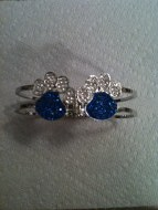 University of Kentucky Double Paw Bracelet