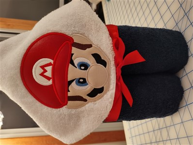 Mario Hooded Towel