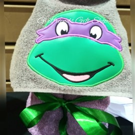 Donatello Teenage Mutant Ninja Turtle Hooded Towel