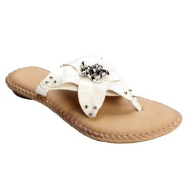 Full Bloom Flower Summer Sandals w/ Stud Accents