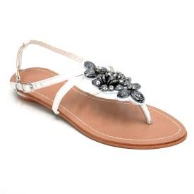 Summer Sandals w/ Floral Charm Decor