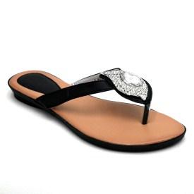 Summer Sandals w/ Crystal Rhinestone Accent