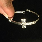 Silver-tone Cross Bracelet
